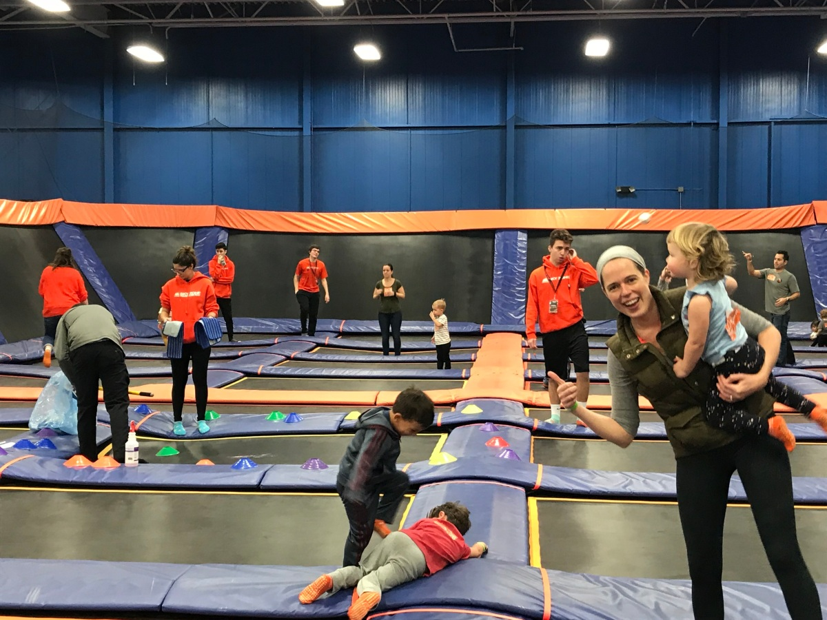 Diary, February 12: Puke at the trampoline park