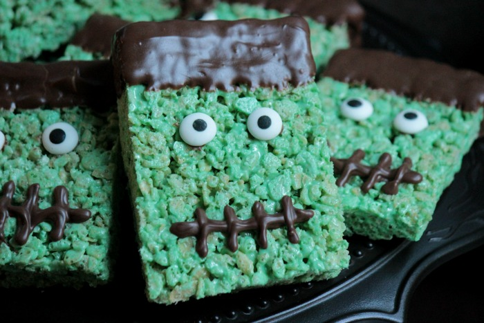 parenting halloween frankenstein rice crispies